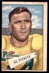1952 Bowman Large #9  Joe Spencer  Front Thumbnail