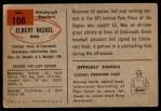 1954 Bowman #108  Elbert Nickel  Back Thumbnail