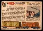 1955 Topps Rails & Sails #1   Locomotive 999 Back Thumbnail