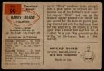 1954 Bowman #99  Harry Jagade  Back Thumbnail