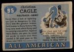 1955 Topps #95  Chris Cagle  Back Thumbnail