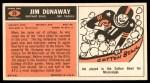 1965 Topps #29  Jim Dunaway  Back Thumbnail