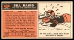 1965 Topps #111  Bill Baird  Back Thumbnail