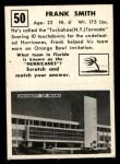 1951 Topps Magic #50  Frank Smith  Back Thumbnail