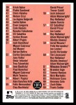 2011 Topps Heritage #0   Checklist 1 of 6 Back Thumbnail