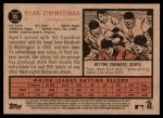 2011 Topps Heritage #95  Ryan Zimmerman  Back Thumbnail