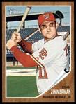 2011 Topps Heritage #95  Ryan Zimmerman  Front Thumbnail
