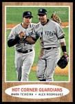 2011 Topps Heritage #163   -  Mark Teixeira / Alex Rodriguez Hot Corner Guardians Front Thumbnail