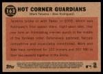 2011 Topps Heritage #163   -  Mark Teixeira / Alex Rodriguez Hot Corner Guardians Back Thumbnail