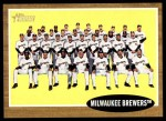 2011 Topps Heritage #61   Brewers Team Front Thumbnail