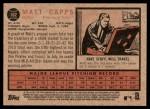 2011 Topps Heritage #102  Matt Capps  Back Thumbnail