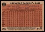 2011 Topps Heritage #22   Padres Team Back Thumbnail