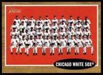 2011 Topps Heritage #113   White Sox Team Front Thumbnail