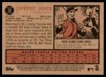 2011 Topps Heritage #30  Chipper Jones  Back Thumbnail