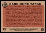 2011 Topps Heritage #136 BR  -  Babe Ruth Babe Joins Yanks Back Thumbnail