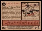 2011 Topps Heritage #100  David Price  Back Thumbnail