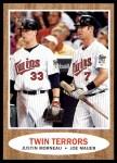 2011 Topps Heritage #351   -  Justin Morneau / Joe Mauer Twin Terrors Front Thumbnail