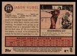 2011 Topps Heritage #298  Jason Kubel  Back Thumbnail