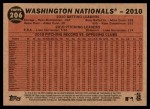 2011 Topps Heritage #206   Nationals Team Back Thumbnail