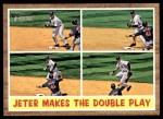 2011 Topps Heritage #311   -  Derek Jeter Jeter Makes the Double Play Front Thumbnail
