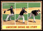 2011 Topps Heritage #319   -  Tim Lincecum Lincecum Shows His Stuff Front Thumbnail