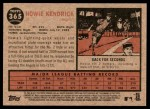 2011 Topps Heritage #365  Howie Kendrick  Back Thumbnail