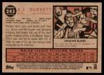 2011 Topps Heritage #243  A.J. Burnett  Back Thumbnail