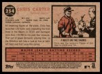 2011 Topps Heritage #254  Chris Carter  Back Thumbnail