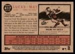 2011 Topps Heritage #417  Lucas May  Back Thumbnail