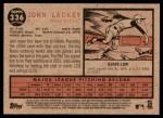 2011 Topps Heritage #336  John Lackey  Back Thumbnail