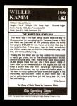 1991 Conlon #166   -  Willie Kamm Story Back Thumbnail