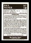 1991 Conlon #167   -  Paul Waner Story Back Thumbnail