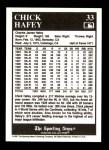 1991 Conlon #33  Chick Hafey  Back Thumbnail
