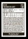 1991 Conlon #102   -  Ray Morehart 1927 Yankees Back Thumbnail