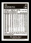 1991 Conlon #49  Al Simmons  Back Thumbnail