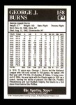 1991 Conlon #158   -  George J. Burns 1916 League Leaders Back Thumbnail
