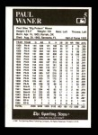 1991 Conlon #5  Paul Waner  Back Thumbnail