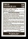 1991 Conlon #168   -  Fred Snodgrass Story Back Thumbnail