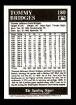 1991 Conlon #180  Tommy Bridges  Back Thumbnail