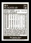 1991 Conlon #291  Ira Flagstead  Back Thumbnail