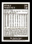 1991 Conlon #288  Pinky Whitney  Back Thumbnail