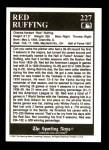 1991 Conlon #227   -  Red Ruffing Trivia Back Thumbnail
