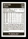 1991 Conlon #220  Bennie Tate  Back Thumbnail