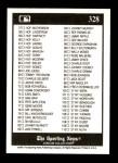 1991 Conlon #328   Checklist 1-110 Back Thumbnail