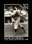 1991 Conlon #306   -  Frank McCormick Most Valuable Player Front Thumbnail