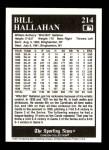 1991 Conlon #214  Bill Hallahan  Back Thumbnail