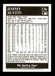 1991 Conlon #236  Jimmy Austin  Back Thumbnail