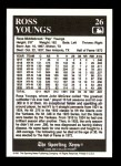 1991 Conlon #26  Ross Youngs  Back Thumbnail