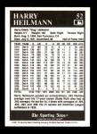 1991 Conlon #52  Harry Heilmann  Back Thumbnail