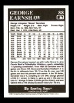 1991 Conlon #88  George Earnshaw  Back Thumbnail